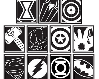 Superheroes Vinyl Wall Decals