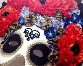 Dia de los Muertos Mask Day of the Dead Mask Sugar Skull Mask Calavera Halloween Mask - Mardi Gras, Carnival, New Years Eve, Wedding Mask