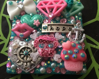 Sea Breezy Pink and Teal Compact Mirror