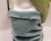 Teal Cashmere Cheek Nose Neck Warmer Scarf * Gaitor * 100% Cashmere M / L * Women  by Tejidos on Etsy Upcycled Sweater