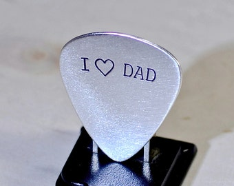 Sterling silver guitar pick for Dads and Father's Day - Solid 925 GP309
