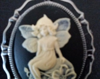 Gorgeous Pixie Fairie Girl CAMEO Brooch- 15-20% off Jewelry SALE