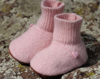 Wool Baby Booties: 0-6 mo.