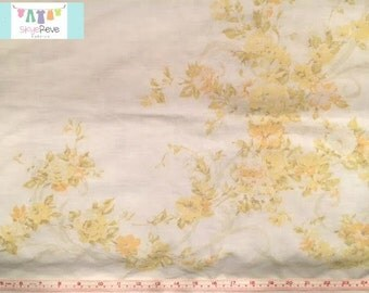 Vintage Placed Yellow Floral Pillowcase