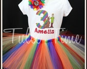 Rainbow Scooby Doo personalized top shirt all sizes with tutu set 12m 18m 2t 3t 4t 5