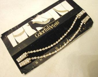Shoe Bracelet Shoe Clips Gold Tone And Rhinestones
