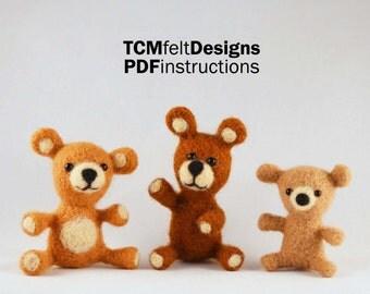 PDF The Bears Needle Felting Instructions, Advanced Beginner/Intermediate Level Fiber Art