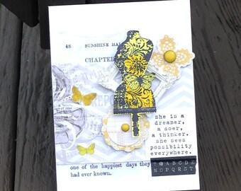Congratulations Card for Her, Good Luck Card,  Encouragement Card, Dreamer Card, FINAL  CLEARANCE