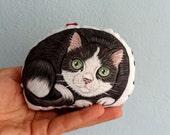 Tuxedo Cat Plush , cute  cat soft toy  mini animal pillow, cat home decor, ornament, nursery decor