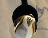 """signed """"Kenneth Jay Lane"""" or """"KJL"""" for Avon floral bud earrings"""