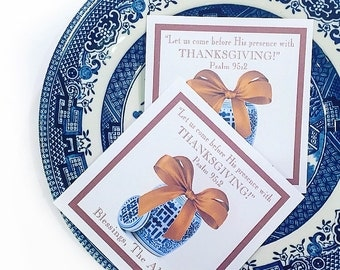 Ginger Jar Thanksgiving tags