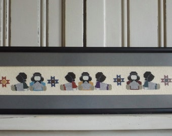 Counted Cross Stitch Amish Babies
