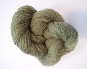 Moss Green Wool Worsted Weight Recycled Yarn