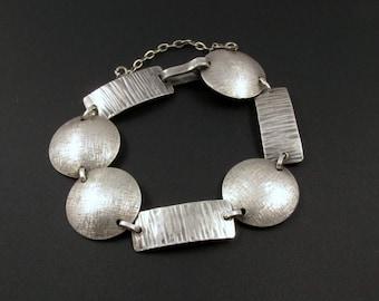 Modernist Silver Bracelet, Industria Argentina Bracelet, 900 Silver Bracelet, Modernist Bracelet, Small Bracelet