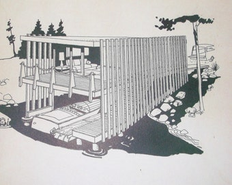 1959 mid-century Leisure-Time Beachhead Cabin Plan • Douglas Fir Plywood Association • No. 10