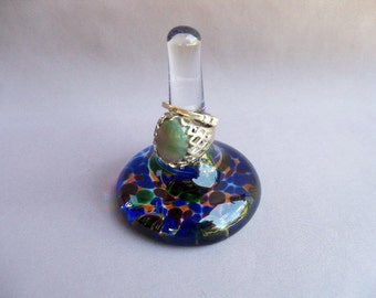 Hand Blown Glass Ring Holder,Art Glass.