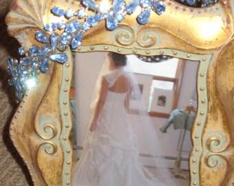 Something Blue Swarovski Tiara/Vintage Tiara/Blue Crystal Tiara Wedding Headpiece FREE SHIPPING