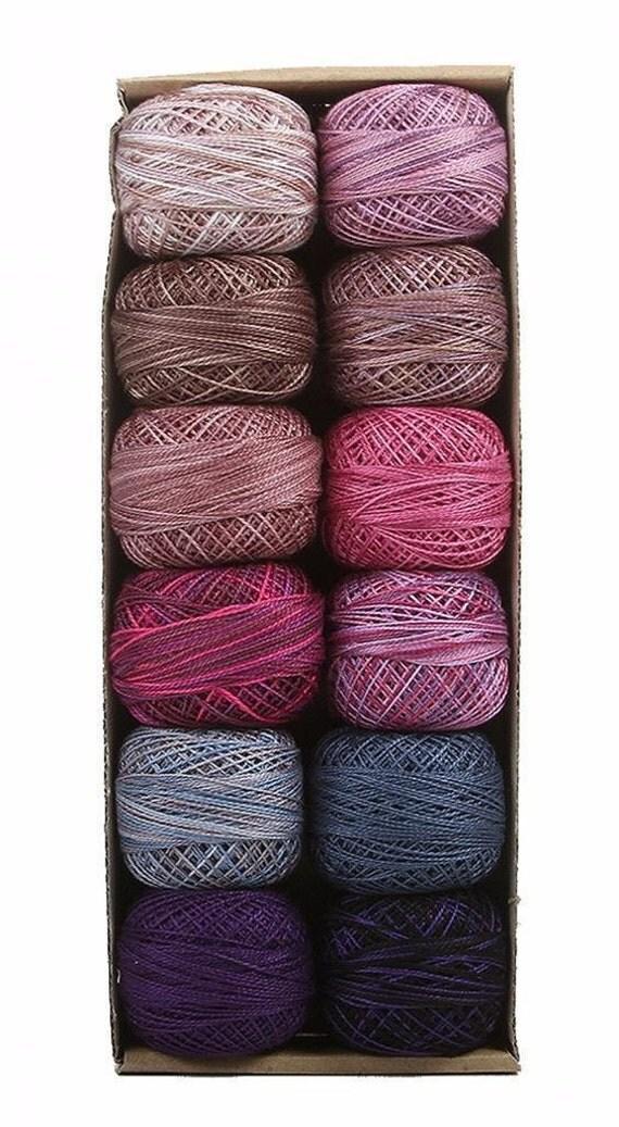 Valdani Perle Cotton Size 8 Embroidery Thread Accents 3 Purple