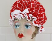 "Shower Cap Women's Waterproof Washable ""Moroccan Red"""