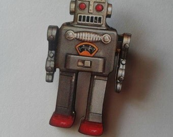 Robot Brooch,Pin,Toy Robot,Robot Jewelry