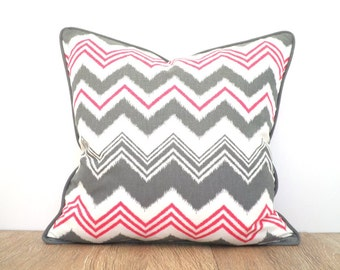 Brown Chevron Pillow Case 16x12 Brown And Turquoise By