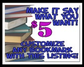 PERSONALIZE ANY BOOKMARK at Ian's Cafe