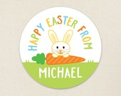 Easter Stickers - Easter Bunny & Carrot - Sheet of 12 or 24