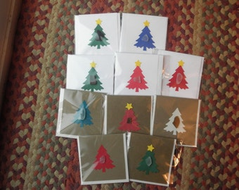 Mini Christmas Note Cards Lake Erie set of 10 mix lot