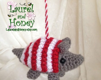 It's the HOLIDAY ARMADILLO! Ornament or toy
