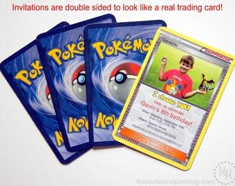 Pokémon Custom PRINTABLE Birthday Invitation with PHOTO