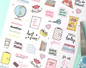 Printable BUSY GIRL stickers! - Digital File Instant Download- school work, college, girl boss, office, planner girl, bando, happy planner