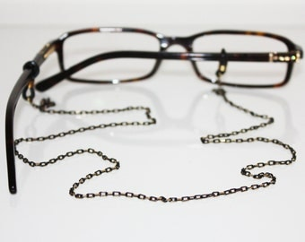 Glasses Chain || Black & Gold
