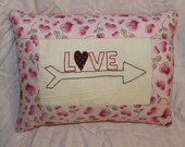 Love with arrow valentine pillow