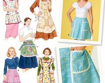 Apron Pattern, 50's Look Apron Pattern, Half Apron Pattern, Bib Apron Pattern, Simplicity Sewing Pattern 4282