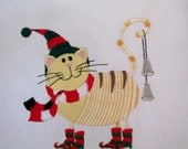 RESERVED 2 Country Fat Cats Embroidered Quilt Blocks