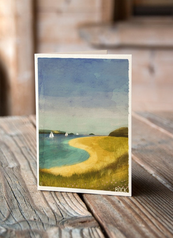 Cornish Coasts - Rock Greetings Card
