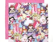 Kids Cloth Napkin, Girls Lunch Napkin, School Lunch Napkin, Princess Napkin, 1 double sided fabric napkin