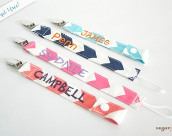 Buy 2, Get 1 Free Personalized Pacifier Clips