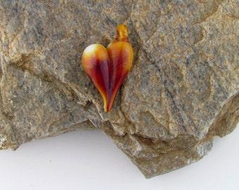 Handmade Borosilicate glass Heart pendant.