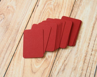 50pc Burgundy Red CLARET Eco Series Business Card Blanks