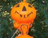 Halloween Blow Mold Cat and Jack o Lantern Lamp or Light, Vintage Decoration