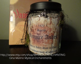 Vampire Ashes Apothecary Jar- Large 26 oz BEST SELLER