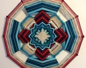 "Breathing Heart 24"" All Wool Mandala, in stock, By Janelle Lucido-Conate"