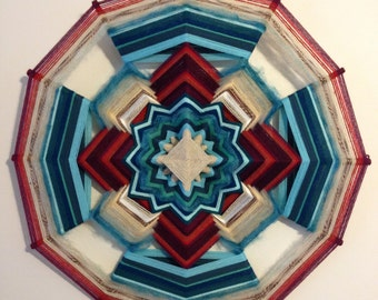 "Breathing Heart 24"" All Wool Mandala"