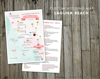 Custom Save the Date Wedding Map - JPress Designs, Bahamas, Chicago, Laguna Beach, modern wedding, letterpress, destination wedding,  custom