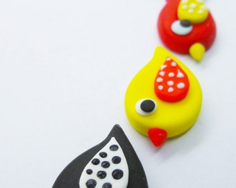 Miniature Polymer Clay Animal for Dollhouse and Beads Jewelry, 12 pieces