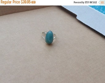ON SALE Larimar Jewelry Larimar ring Turquoise jewelry ring size 8 1/2 Sterling silver 925