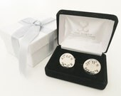 Custom Coordinate Cufflinks, Mens Coordinates, Latitude Longitude Jewelry, Father of the Bride Cufflinks, Wedding Cufflinks, Groomsmen Gift