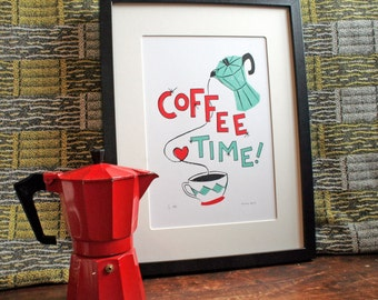 Coffee Time Screen Print - Limited Edition - Art Print