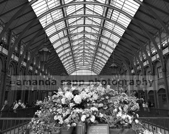 Covent Garden London UK photograph black and white
